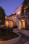 Lights On Outside an Elegant Home